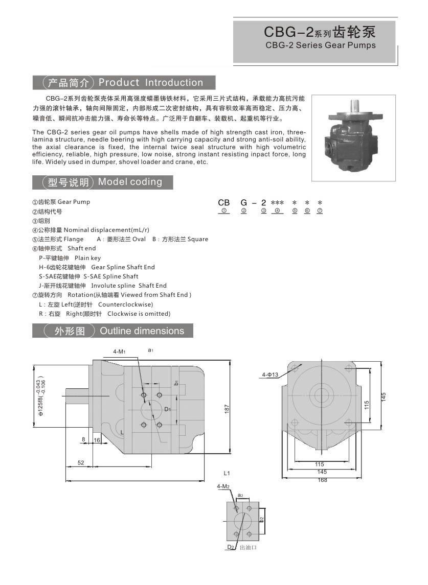 CBG-2CBTDSeries Gear Pumps