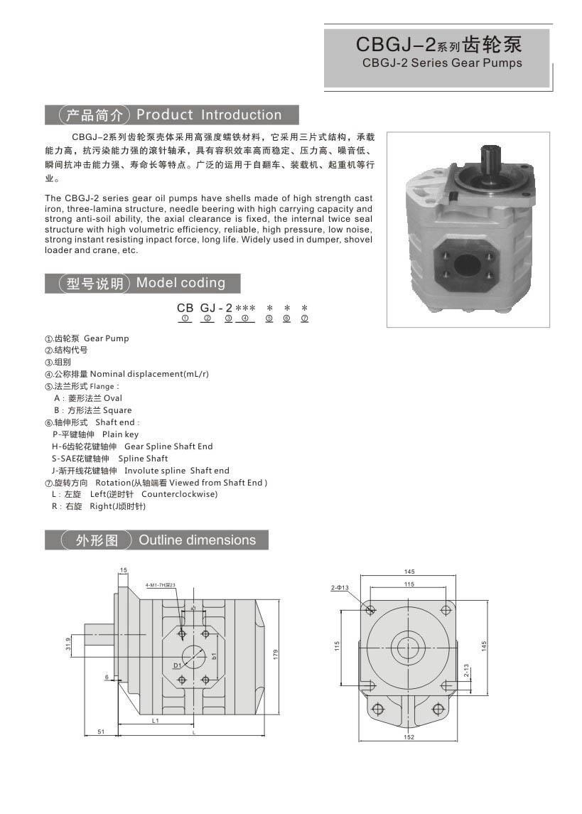 CBGJ-2CBTDSeries Gear Pumps