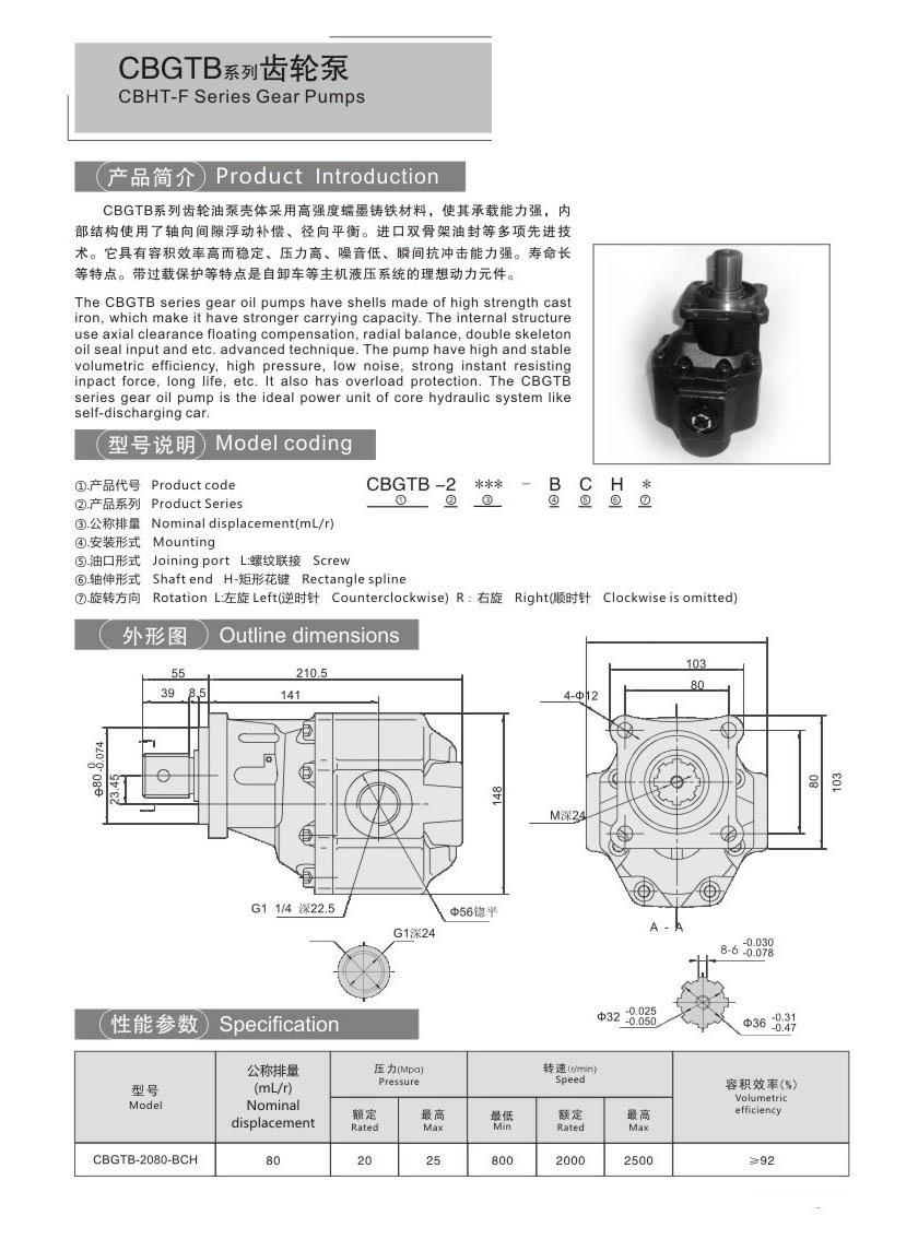 CBHT-FCBTDSeries Gear Pumps