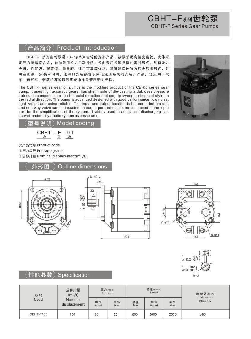 CBGTBCBTDSeries Gear Pumps
