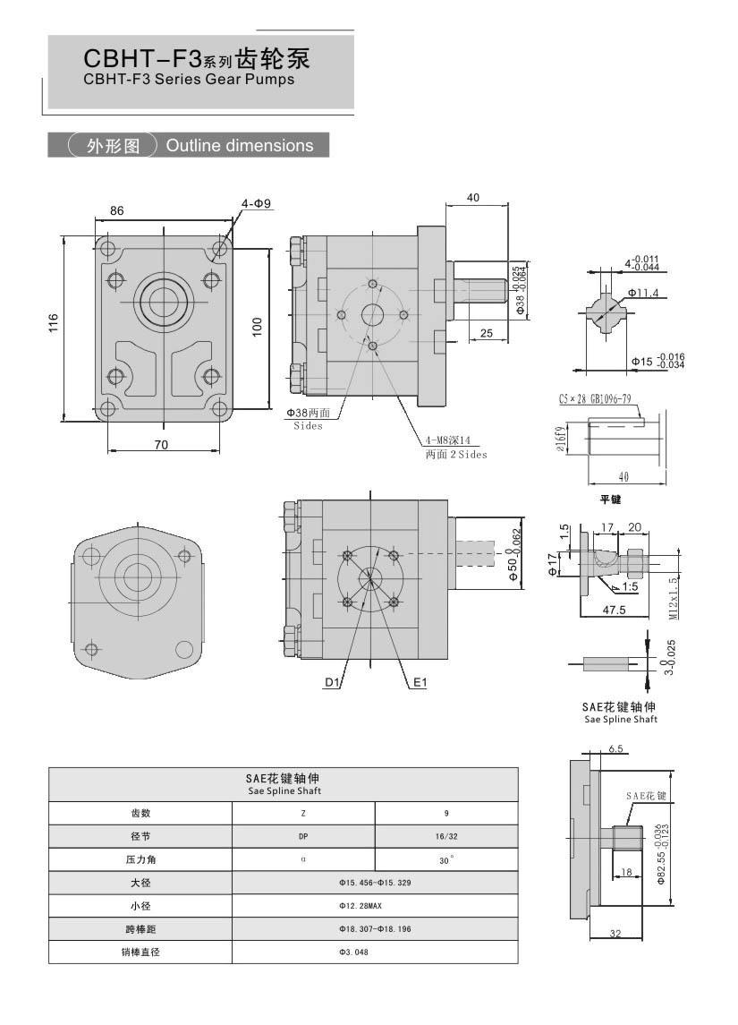 Amapompo we-CBHT-F3 Series Gear