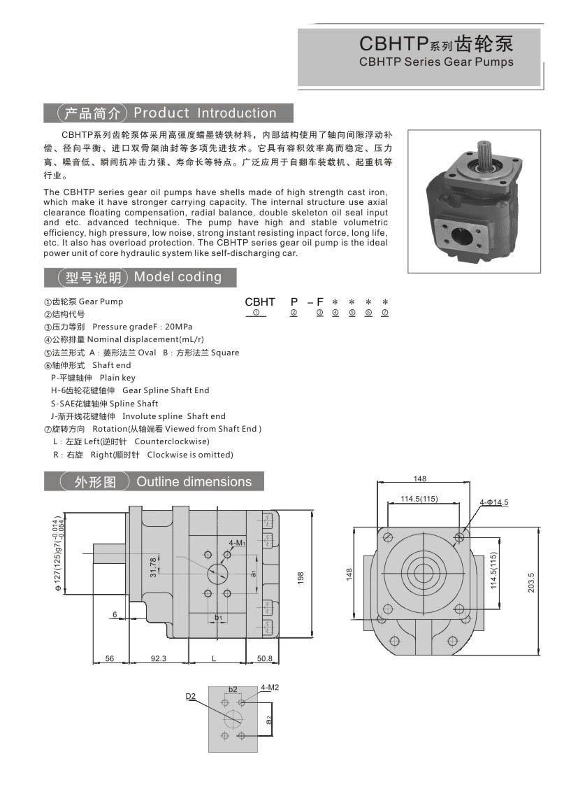 CBHTPCBTDSeries Gear Pumps
