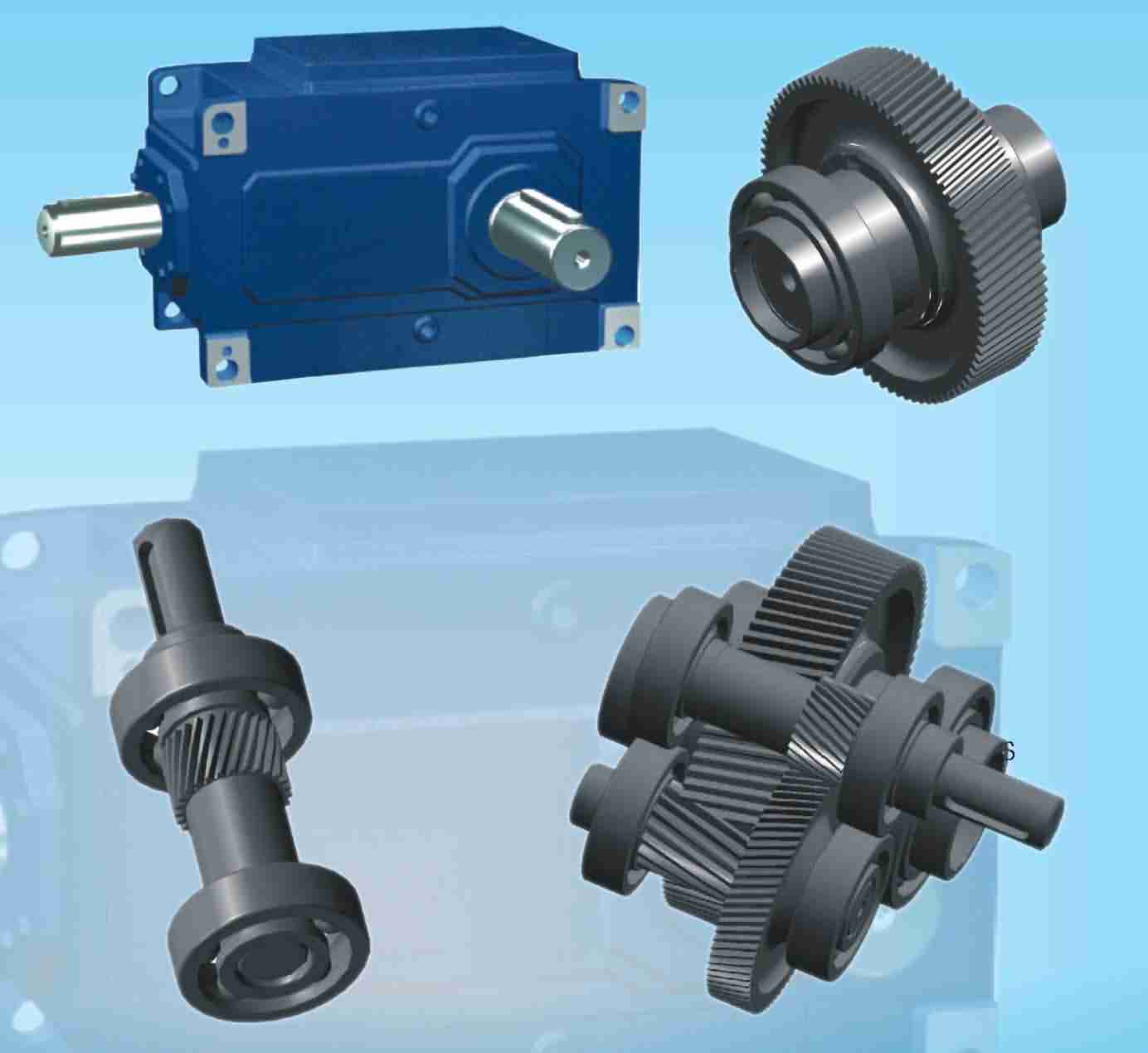 speed reducers, in-line helical gear speed reducers, parallel shaft helical gear reducers, helical bevel reducers, helical worm gear reducers, agricultural gearboxes, tractor gearboxes