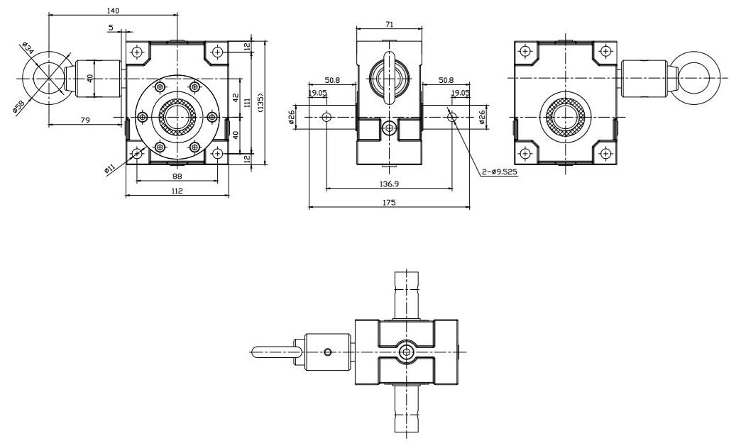 Перделер жетегінің беріліс қорабының дизайны