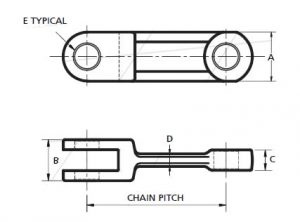 Drop Forged Chain 102HVY/142STD/260STD For Material Handling - 1 2 300x222